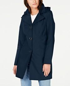 Anne Klein Water Resistant Hooded Raincoat