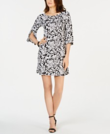 MSK Petite Floral-Print Shift Dress
