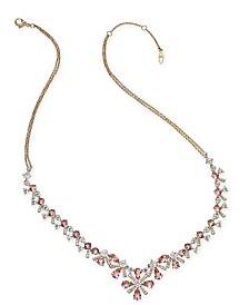 """Eliot Danori Gold-Tone Crystal Mimosa Flower Collar Necklace, 16"""" + 1"""" extender, Created for Macy's"""