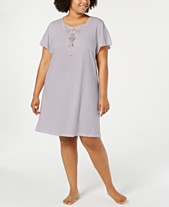 cc7d65e765 Charter Club Plus Size Soft Knit Sleepshirt with Lace