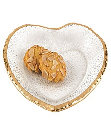 "Gold Edge Heart Plate 7.5"""