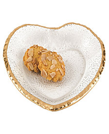 Gold Edge Heart Plate 7.5""