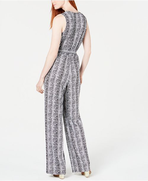 8db487ab66 NY Collection Petite Printed Surplice Jumpsuit - Pants   Capris ...
