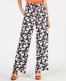 John Paul Richard Petite Floral Drawstring Pants
