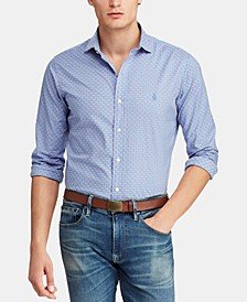 Men's Big & Tall Classic Fit Floral-Print Cotton Shirt