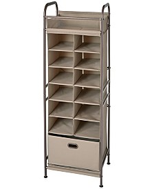 Neatfreak Vertical 12-Cubby Shoe Storage Organizer with Bin Drawer