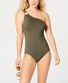 MICHAEL Michael Kors One-Shoulder One-Piece Swimsuit, Created for Macy's