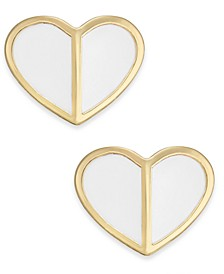Gold-Tone Heart Stud Earrings