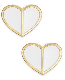 kate spade new york Gold-Tone Heart Stud Earrings
