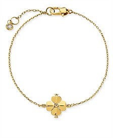 Gold-Tone Crystal Flower Flex Bracelet