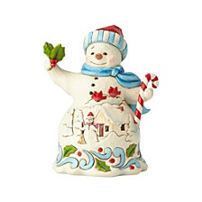 Pint Sized Snowman with Candy