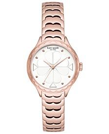 Women's Scallop Rose Gold-Tone Bracelet Watch 32mm
