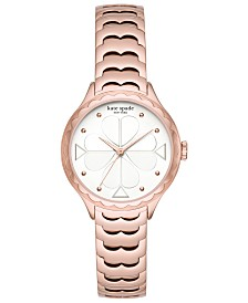 kate spade new york Women's Scallop Rose Gold-Tone Bracelet Watch 32mm