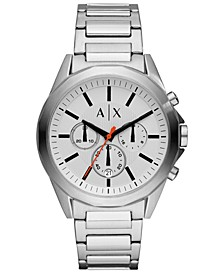 Men's Chronograph Drexler Stainless Steel Bracelet Watch 44mm
