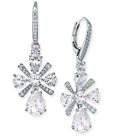 Multi-Crystal Flower Drop Earrings, Created for Macy's