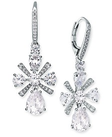 Eliot Danori Multi-Crystal Flower Drop Earrings, Created for Macy's