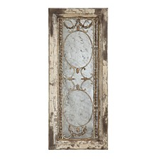 Rectangle Wood Framed Antiqued Mirror
