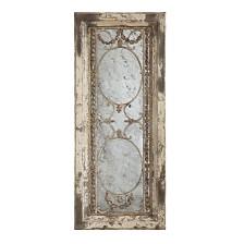 Rectangle Wood Framed Antiqued Mirror