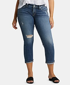 Silver Jeans Co. Elyse Ripped Capri Jeans