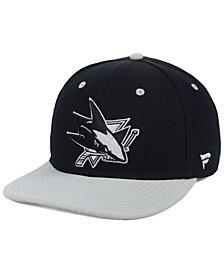 Authentic NHL Headwear San Jose Sharks Blackout Emblem Snapback Cap