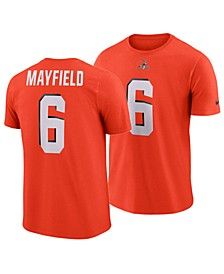 Men's Baker Mayfield Cleveland Browns Player Pride Name and Number Logo 3.0 T-Shirt