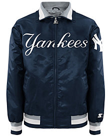 G-III Sports Men's New York Yankees Captain Starter Satin Jacket II