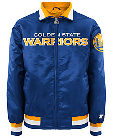 G-III Sports Men's Golden State Warriors NBA Men's Starter Captain II Satin Jacket