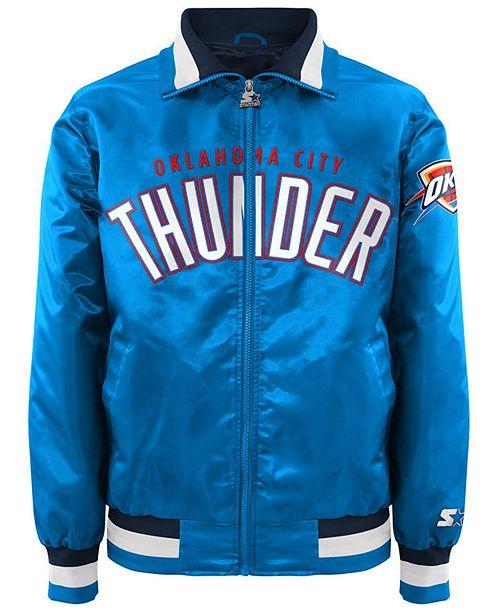 G-III Sports Men's Oklahoma City Thunder Starter Captain II Satin Jacket