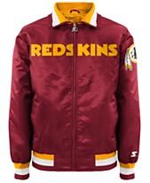 98b41f05d G-III Sports Men s Washington Redskins Starter Captain II Satin Jacket