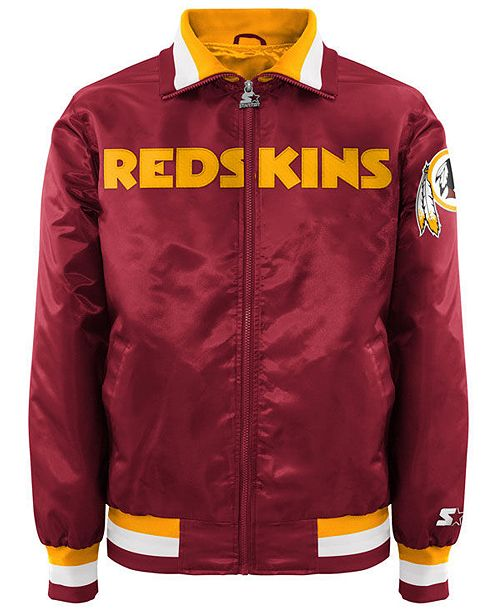 quality design 512f9 cb85d Men's Washington Redskins Starter Captain II Satin Jacket
