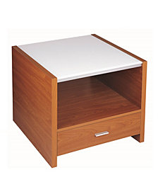 End Table with Tempered Glass and MDF Board