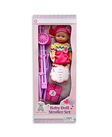 Kid Concepts Baby Doll with Stroller Set