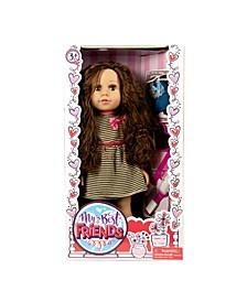 """18"""" My Best Friend Brunette Doll in A Dress"""