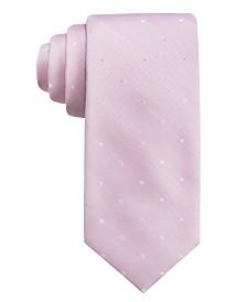 Ryan Seacrest Distinction™ Men's  Burgos Dot Slim Silk Tie, Created for Macy's