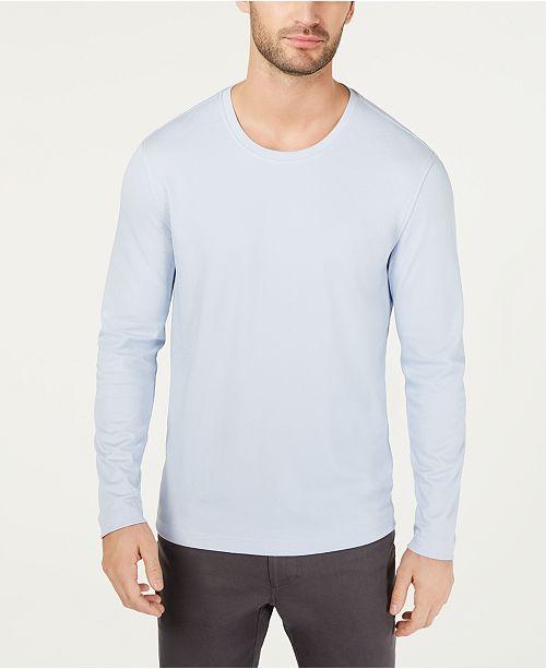 Tasso Elba Men's Supima® Blend Crewneck Long-Sleeve T-Shirt, Created for Macy's