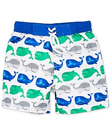 Little Me Whale Baby Boys Swim Trunks