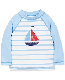 Little Me Sailboat Baby Boys Rashguard