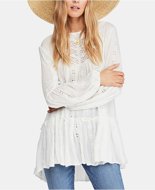 afd844dfce83 Free People Kiss Kiss Embroidered Lace Tunic   Reviews - Tops ...