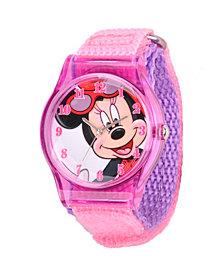 Disney Minnie Mouse Girls' Purple Plastic Watch
