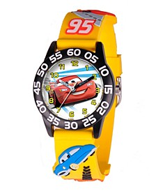 Disney Cars Boys' 3D Black Plastic Time Teacher Watch