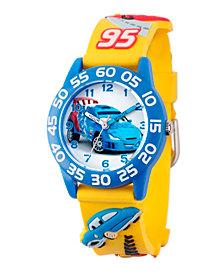 Disney Cars Boys' 3D Blue Plastic Time Teacher Watch