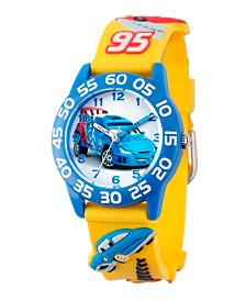 Disney Cars Boys' 3D Blue Plastic Time Teacher Watch