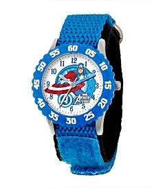 Marvel Captain America Boys' Stainless Steel Time Teacher Watch