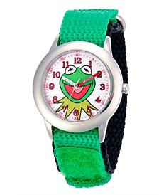 Disney Kermit Boys' Stainless Steel Time Teacher Watch