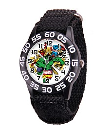 Marvel Hulk Boys' Black Plastic Time Teacher Watch