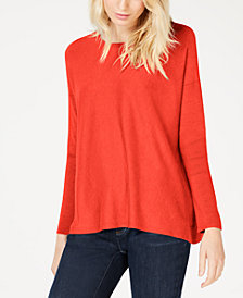 Eileen Fisher Tencel® Round-Neck Boxy Sweater