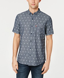 Levi's® Men's Slim-Fit Leaf Print Pocket Shirt
