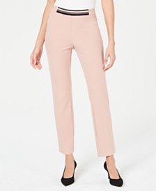d18fdc479a7c2 Alfani Petite Contrast-Waist Slim-Leg Pants