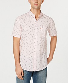 Men's Slim-Fit Tropical Drawings Shirt
