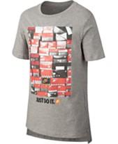 21e00c10283b Nike Big Boys Shoebox-Print Cotton T-Shirt